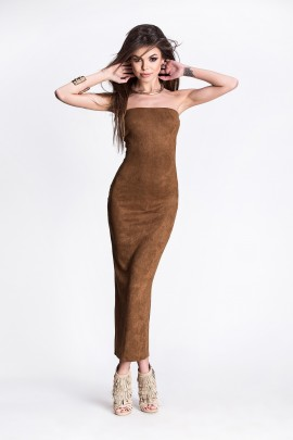 Suede Faux Tube Dress