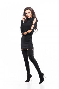 Czarne długie kozaki za kolano