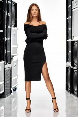 Elegancka sukienka sweterkowa