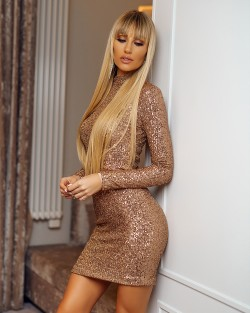 GOLDEN MIRROW DRESS -...
