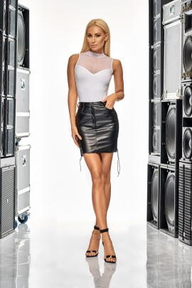 Romans  Leather Skirt
