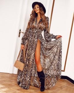 WINTER AFRICAN DRESS Z SZYFONU