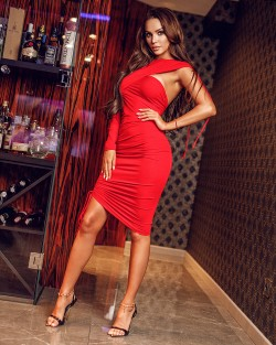 RED DIVA DRESS - CZERWONA...