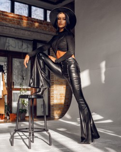 CARMEN LEATHER PANTS -...