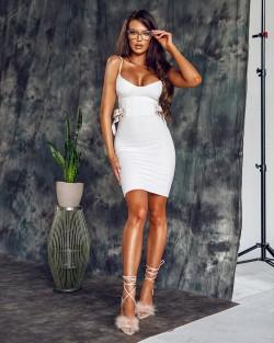 WHITE DEEPA DRESS