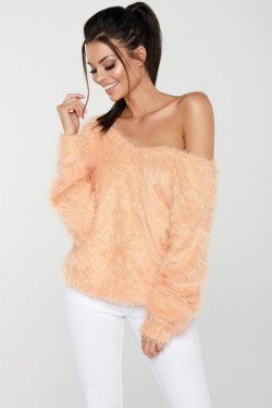 FLUFFY LONG SWEATER