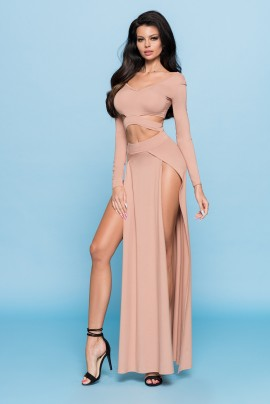 Maxi Dress with cut-outs (long sleeve)