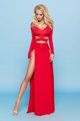 Maxi Dress z rozcięciami (długi rękaw)