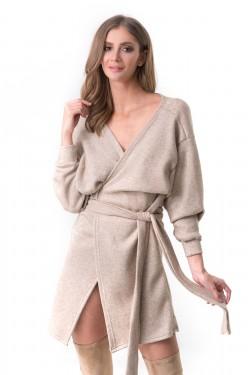 V-NECK BASIC DRESS -...