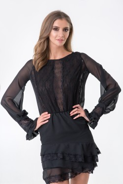 SEXY LACE DETAIL DRESS -...