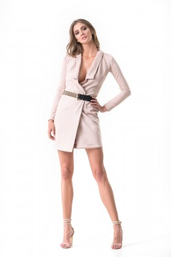 BELTED BLAZER DRESS -...