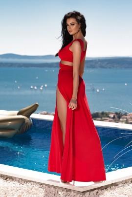 Maxi Dress z rozcięciami (krótki rękaw)