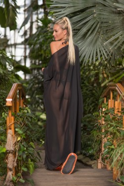 czarne kimono na plaże tył
