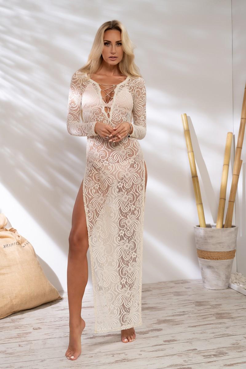 60ee1c621 Piękna maxi koronkowa sukienka na plaże , wakacje , cieple dni
